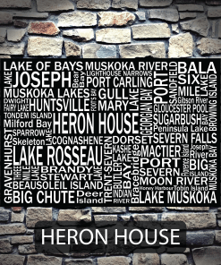 Personalized Canvas Print | Muskoka Destinations | Giants Tomb Trading Co - Heron House
