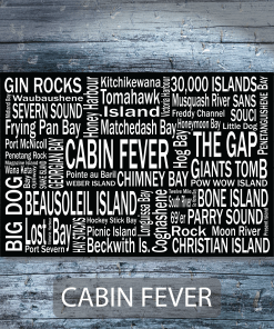 Personalized Canvas Print | 30 Thousand Destinations | Giants Tomb Trading Co - Cabin Fever