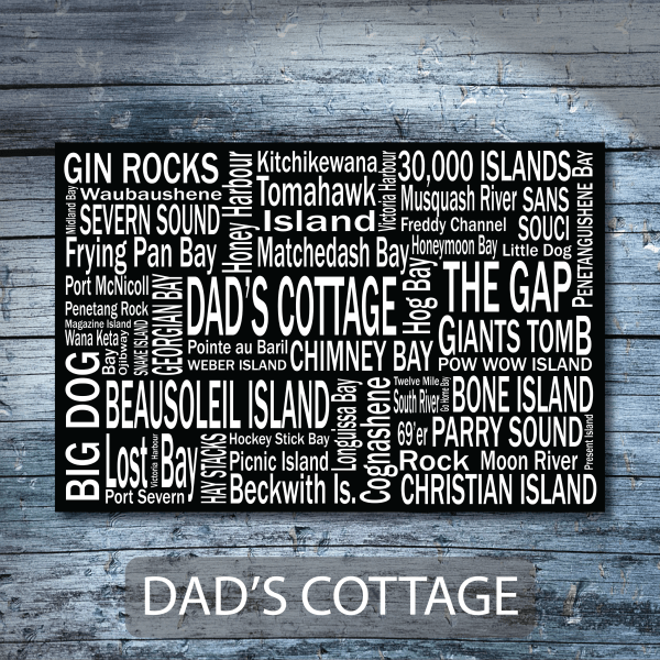Personalized Canvas Print | 30 Thousand Destinations | Giants Tomb Trading Co - Dads Cottage