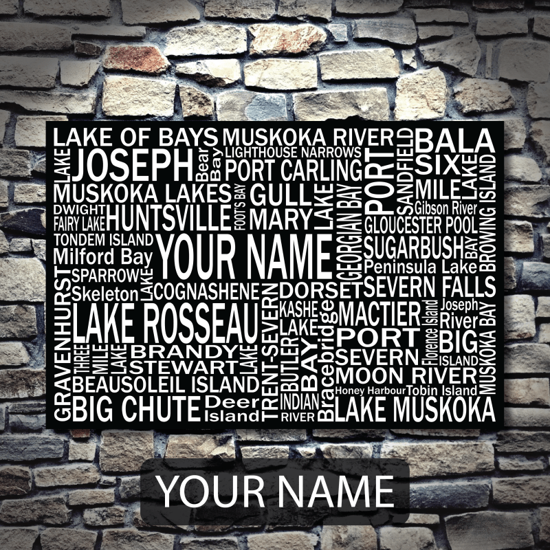 Personalized Muskoka Canvas Print | Giants Tomb Trading Co