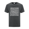 Men's T-Shirt | Active Blend | Dark Heather | Logo: Georgian Bay Destinations - Front