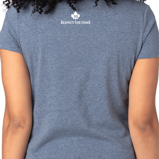 V-Neck Destinations Heather Blue Back 2