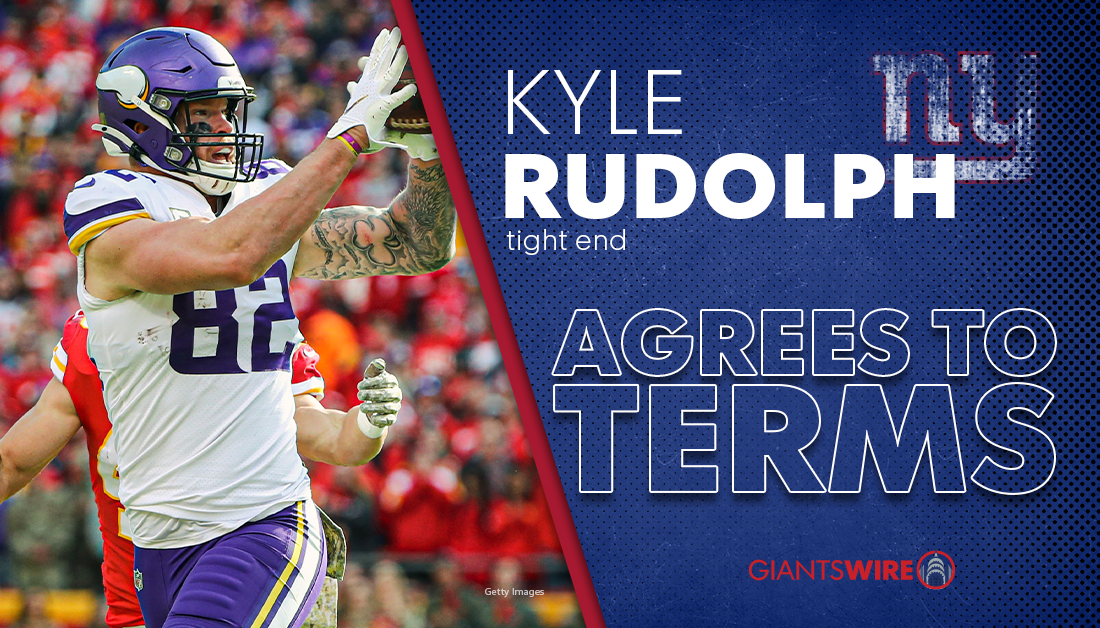 New York Giants agree to terms with TE Kyle Rudolph