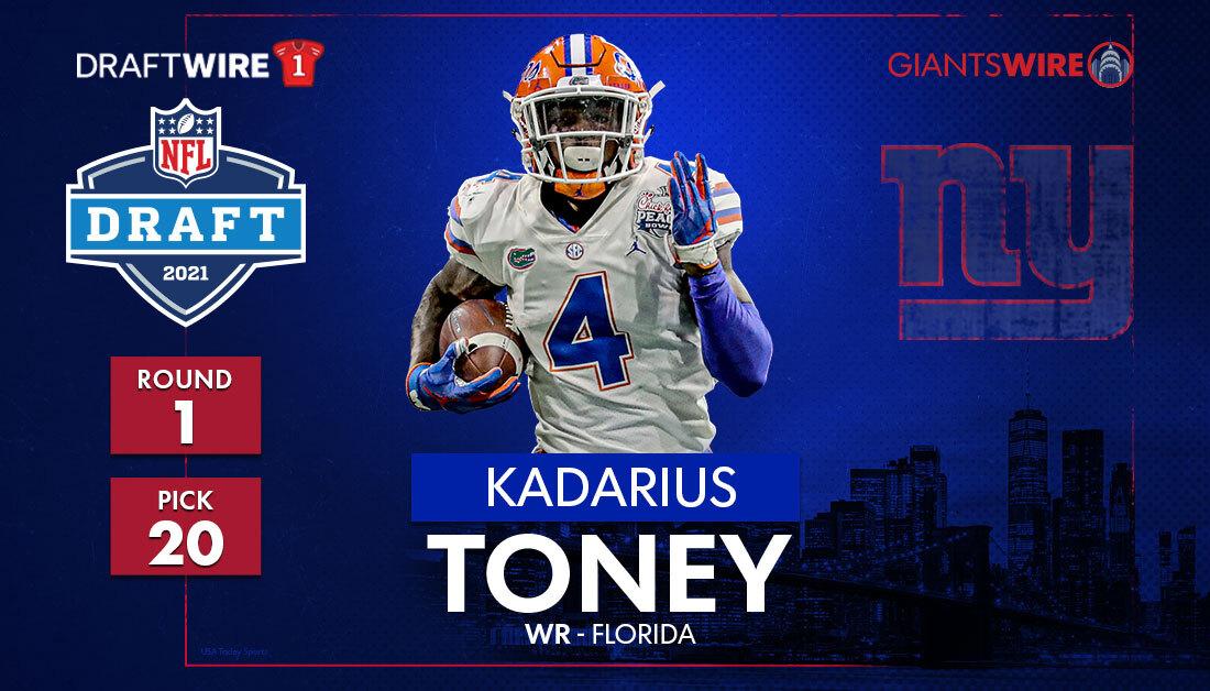 2021 NFL draft: New York Giants select Kadarius Toney in Round 1