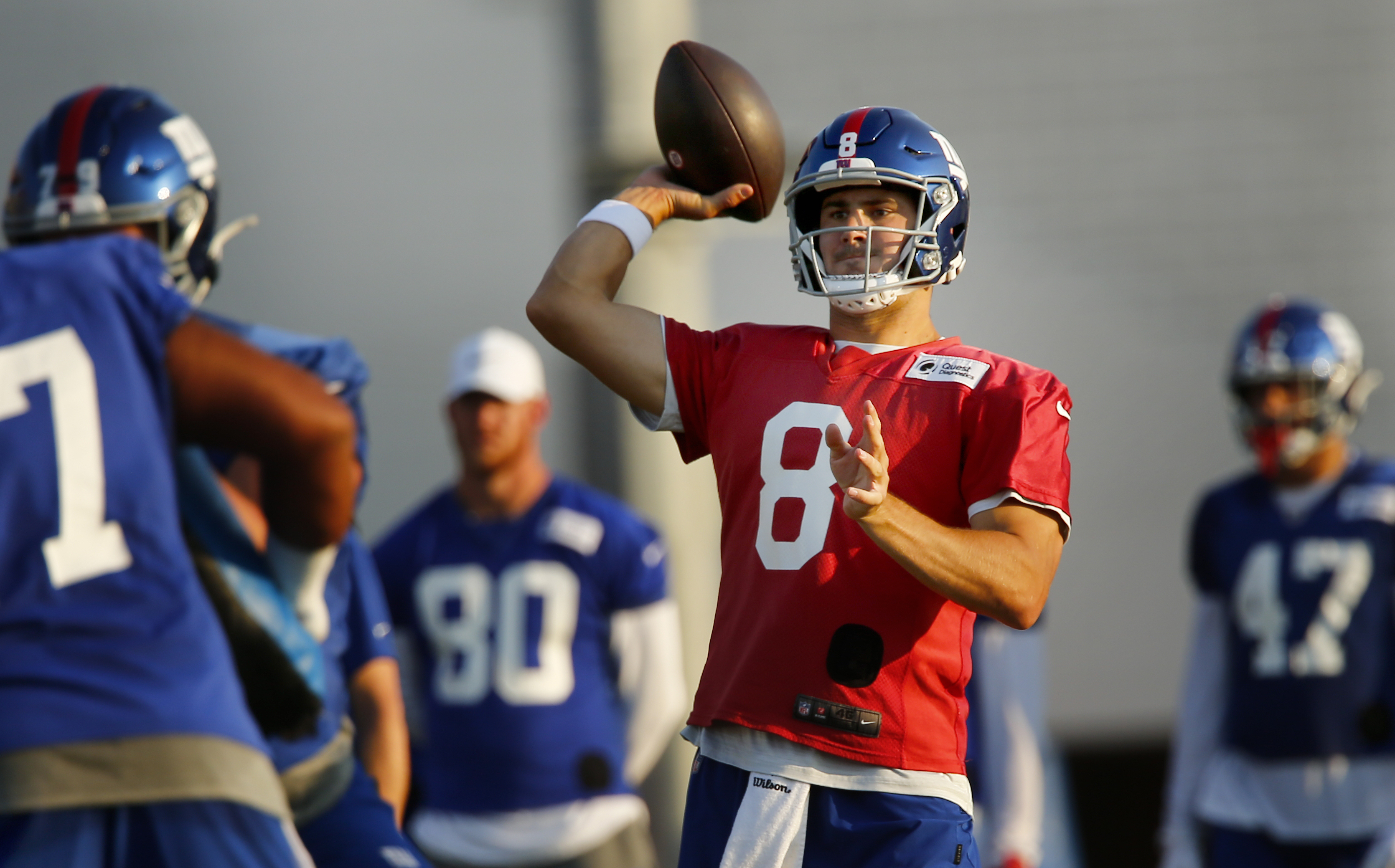 Daniel Jones was on fire before brawl erupted at Giants practice