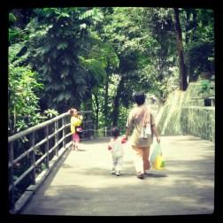 A family trip in the Gembira Loka Zoo