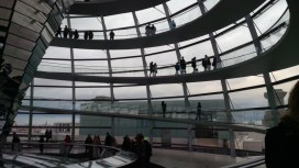 The walk to the top of the Reichstag