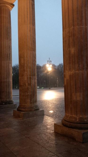 Just a rainy Berlin from between the Brandenburg gate