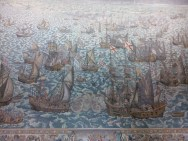 Instead of painting, the community depicted their history on Tapestry