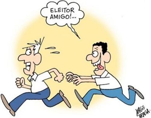 Eleitor corre da urna