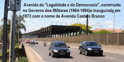 """Avenida da """"Legalidade e da Demagogia"""""""