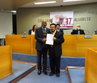 Câmara de Alegrete concede título de cidadania a jornalistas do Terceiro Tempo