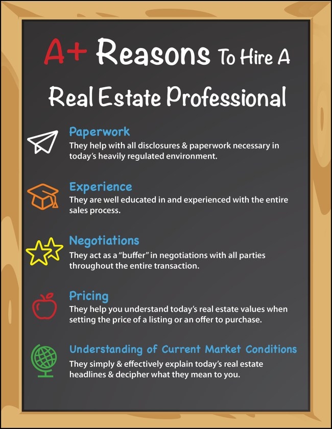 Top 5 A+ Reasons to Hire a Real Estate Pro [INFOGRAPHIC]   Simplifying The Market