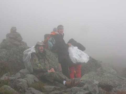 Climbing Mt. Washington. Extreme Weather to say the least! Thrill of a lifetime and we made it!