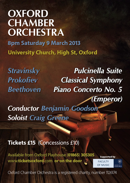 Oxford Chamber Orchestra poster 2013