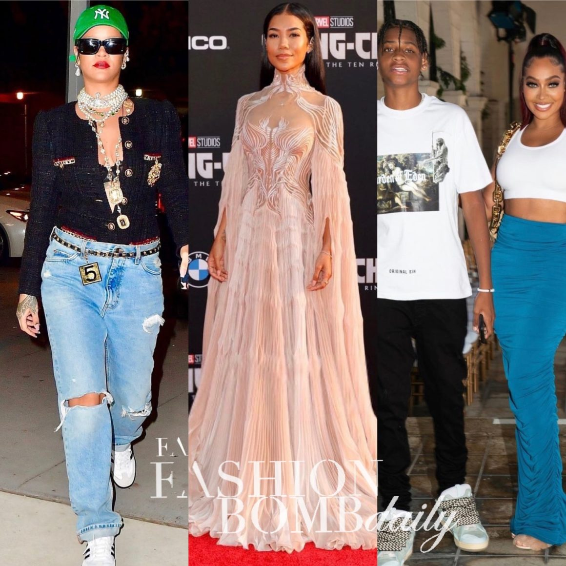 Look of the Week: Rihanna in Chanel and Gucci, Jhené Aiko in Iris Van Herpen, Lala in LaQuan Smith + More