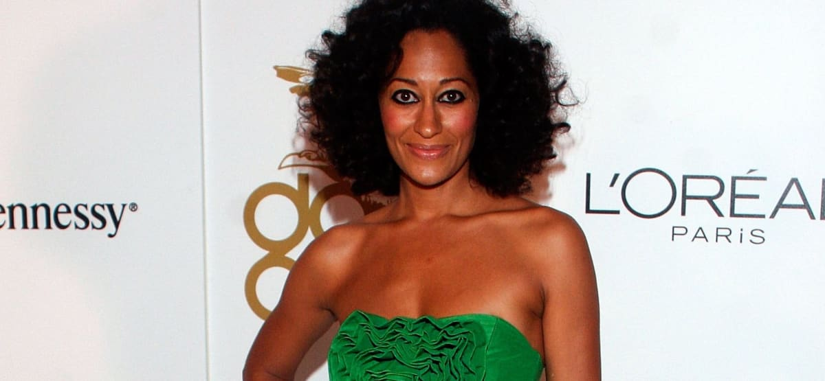 Great Outfits in Fashion History: Tracee Ellis Ross in an Emerald Green Dress