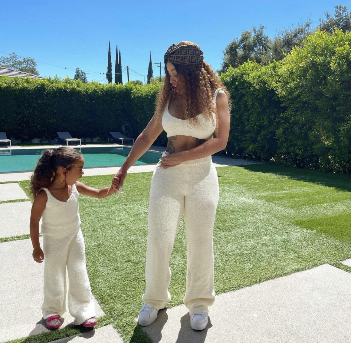 Blac Chyna and Dream Kardashian Spotted Twinning in Fashion Nova White Fuzzy Sets