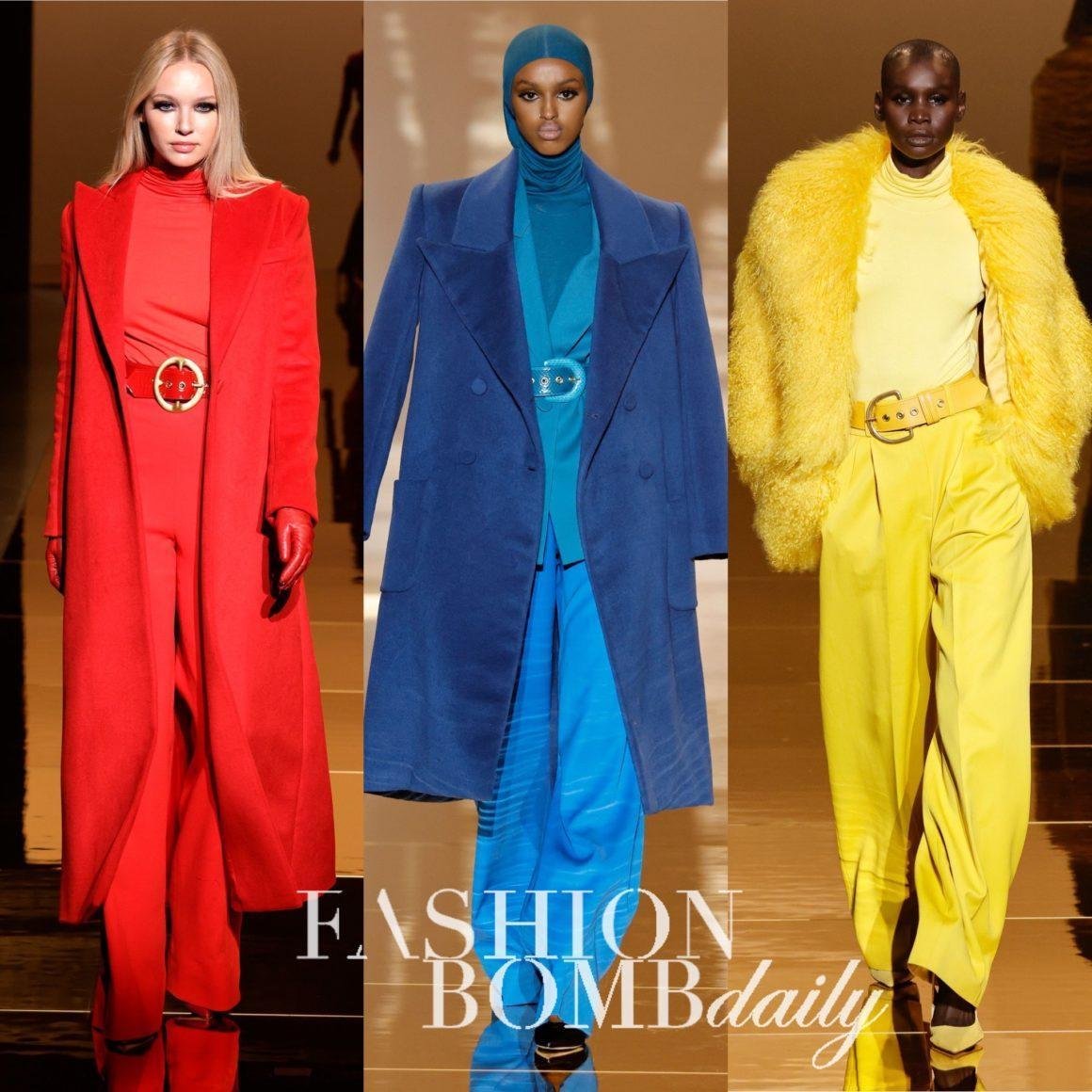 """Sergio Hudson Makes a 'Return to Glamour"""" With Fall/Winter 2021 Collection Full of Bold Monochromatic Looks"""