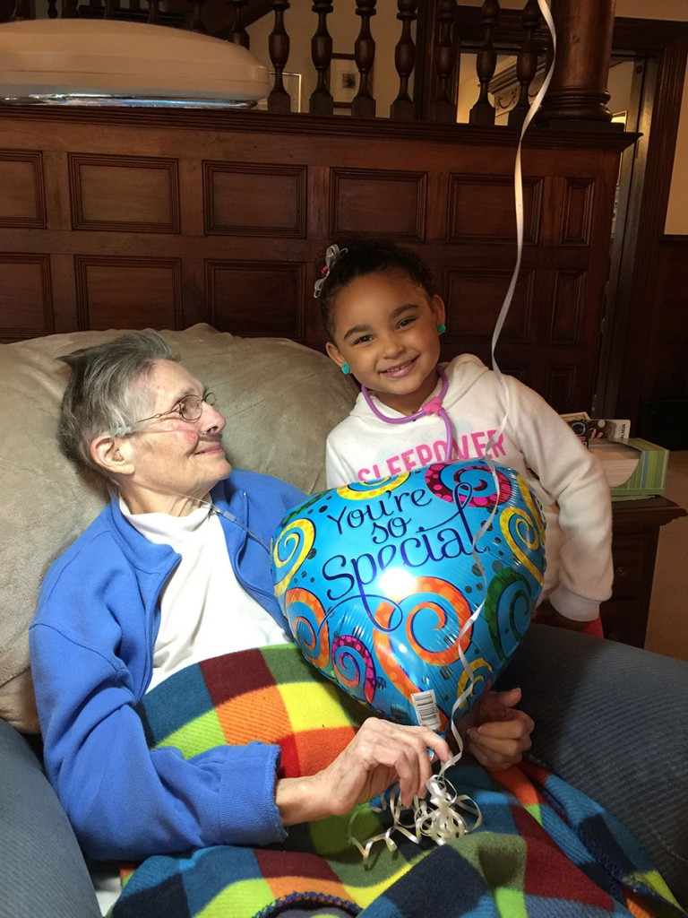 Johannah tells Bev she is special for her 85th birthday