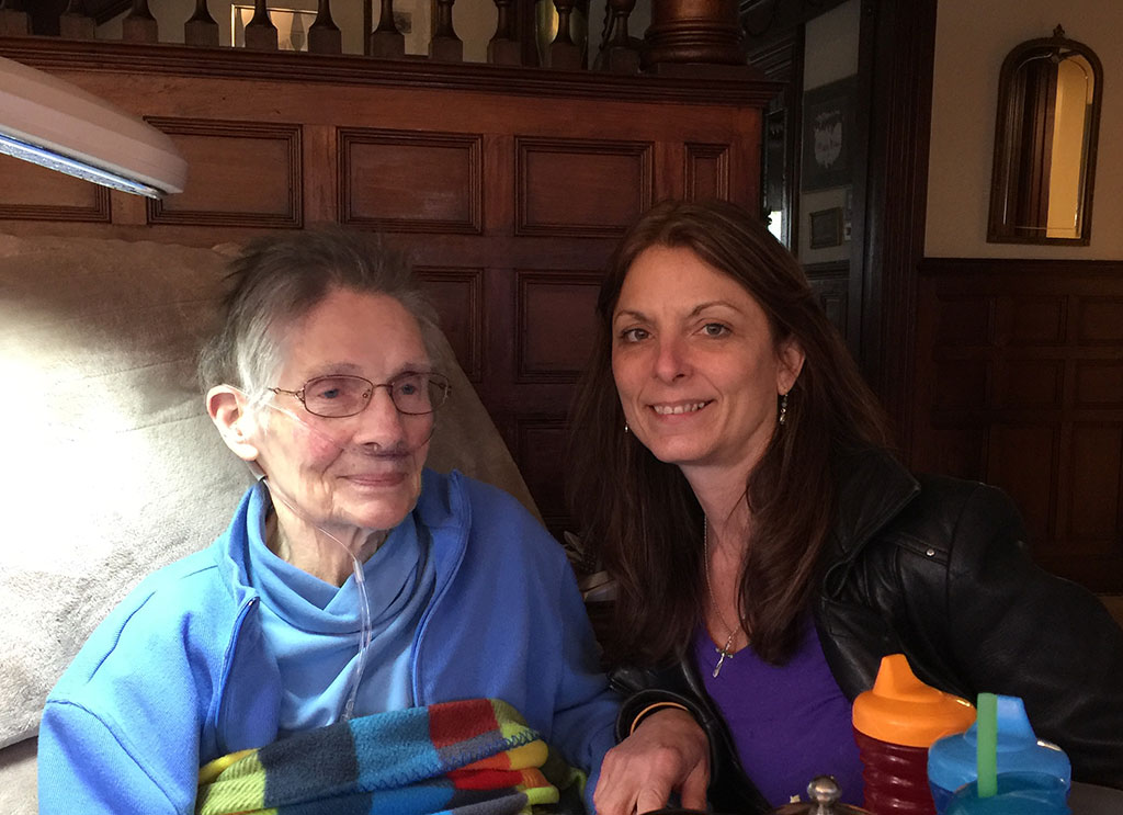 Lori with Bev on her 85th bridthay