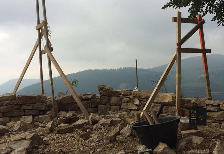 Projektwoche Trockenmauerbau : Tag 2