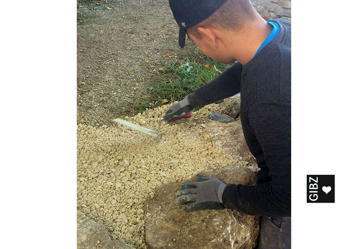 Projektwoche Trockenmauerbau : Tag 4