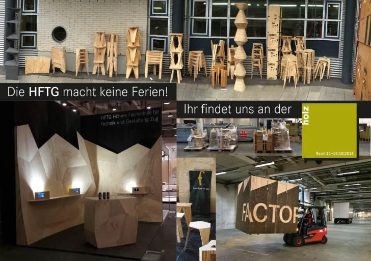 Die HFTG macht keine Herbstferien, sondern reist an die Holz 16 nach Basel…