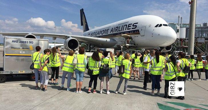 Südanflug – drei FAGE-Klassen besuchen den Flughafen Zürich