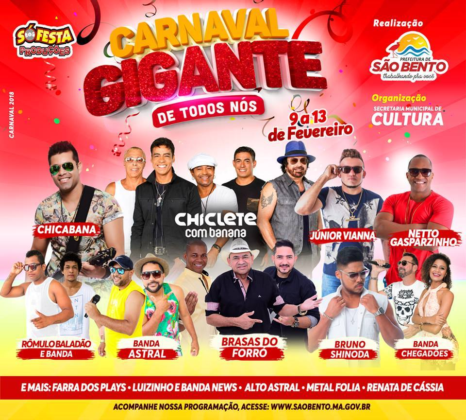 Carnaval em São Bento MA 2018
