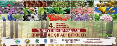 """Türkiye Ormanları """"Orman ve Şifalı Bitkiler"""" Konulu Fotoğraf Yarışması"""