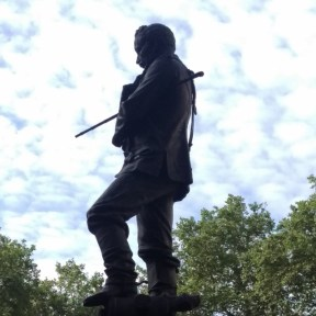 General Charles Gordon overlooks Victoria Embankment from the site of the old Whitehall Palace landing stage