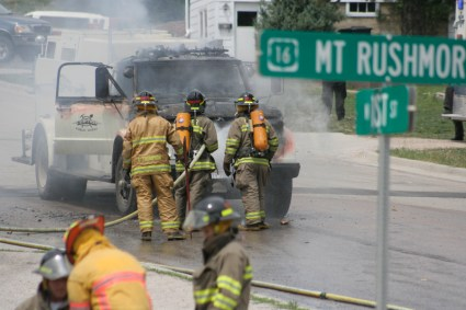 Waste Water Truck Fire, Custer, SD