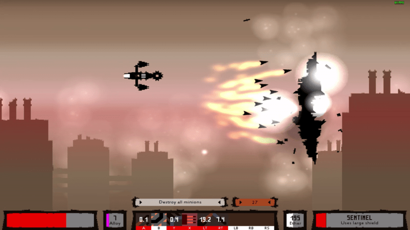 A ship fires a volley of missiles in Sector Six