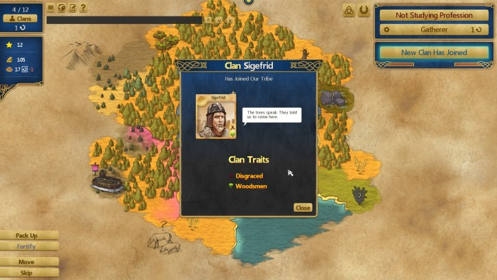 at the gates Civilization clan screen