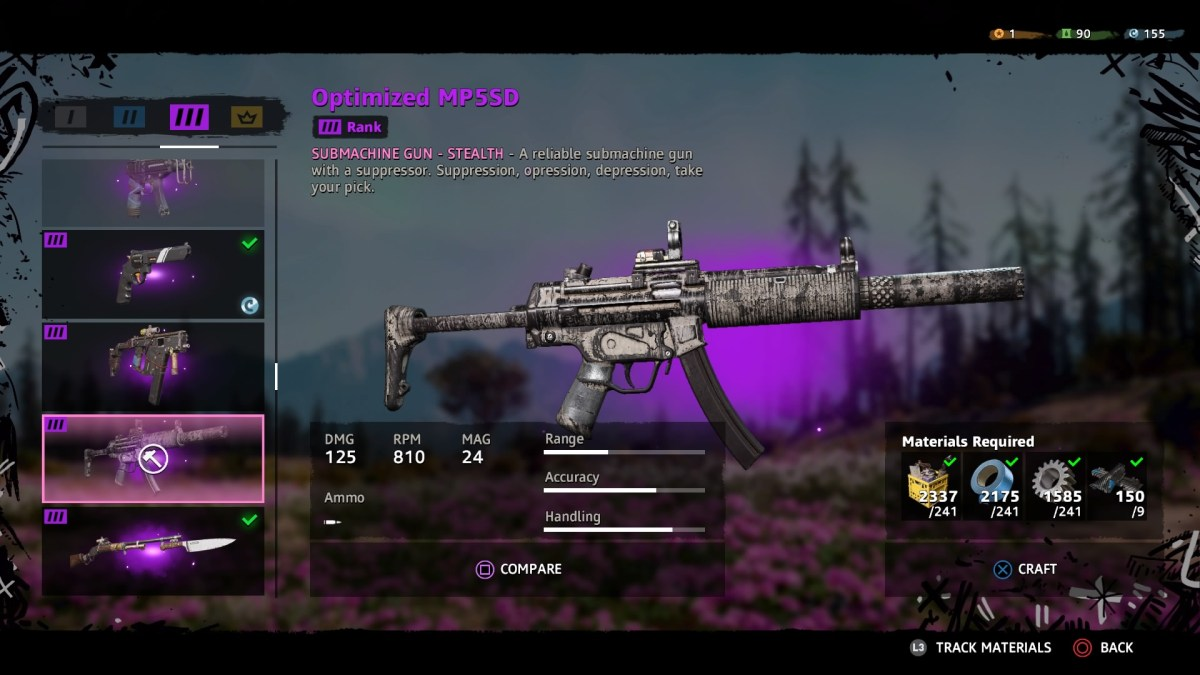 Farcry new dawn weapons screen