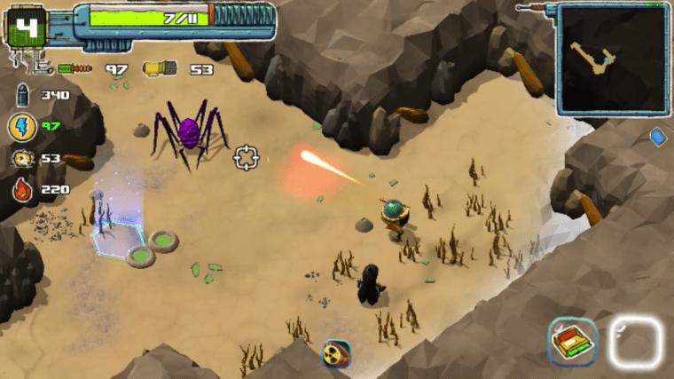 Moss Destruction: Twin Stick Shooter Steam. Desert Level.