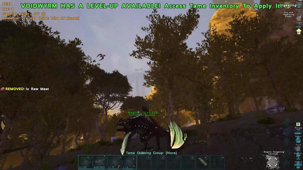 The survivor sits on a Void Wyrm in Genesis part 2