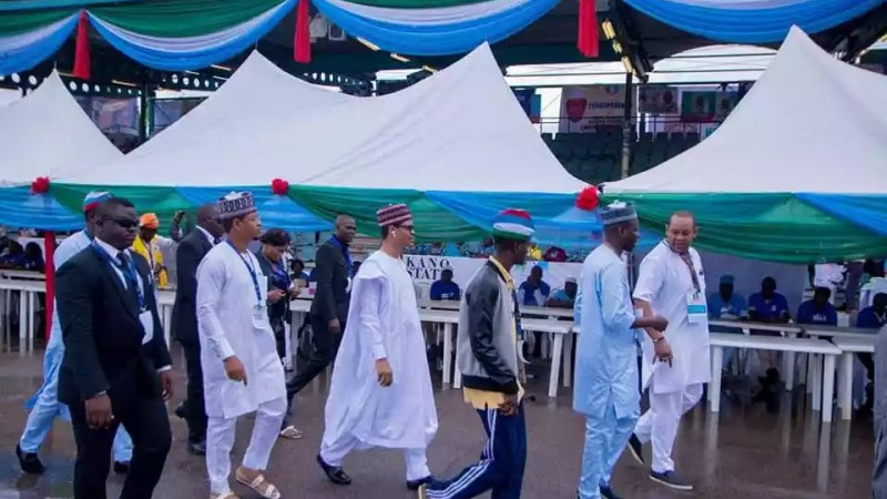 See President Buhari's Lookalike And His Twin Brother At APC Convention In Abuja