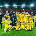 Samuel Chukwueze, Villarreal Players Celebrate Europa League Final Qualification