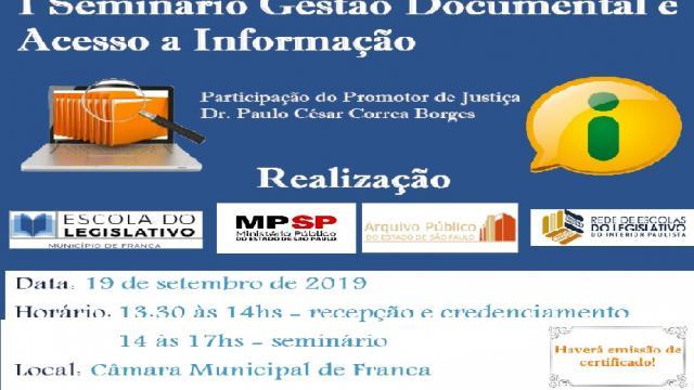 I Seminário de Gestão Documental e Acesso à Informação