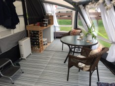 Awning dining and cooking