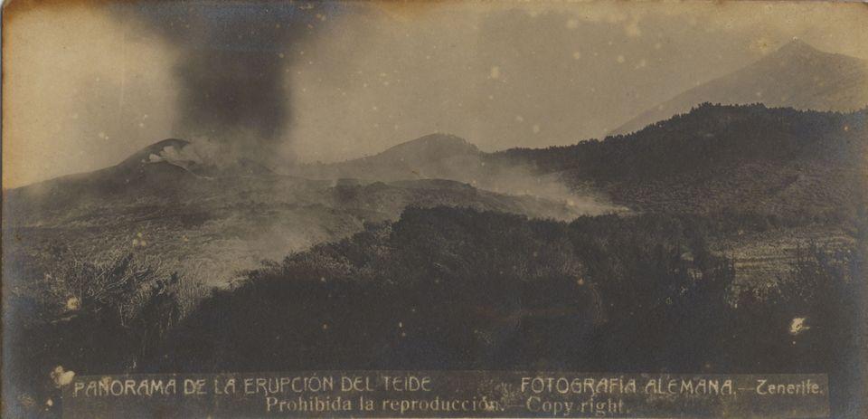 Последнее извержение вулкана Тейде, Тенерифе в 1909 году