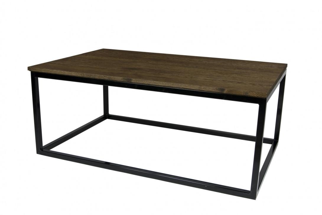 coffee table framed dark brown fct0055
