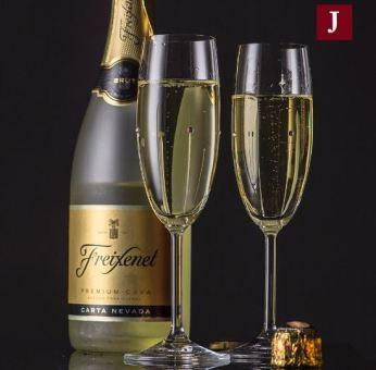 falling-rain-sparkling-wine-glass
