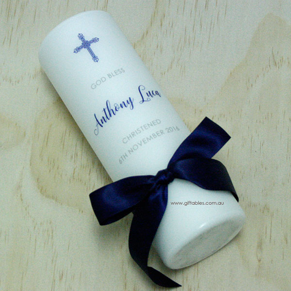 Personalised Christening Baptism Candle CDB07 Giftables