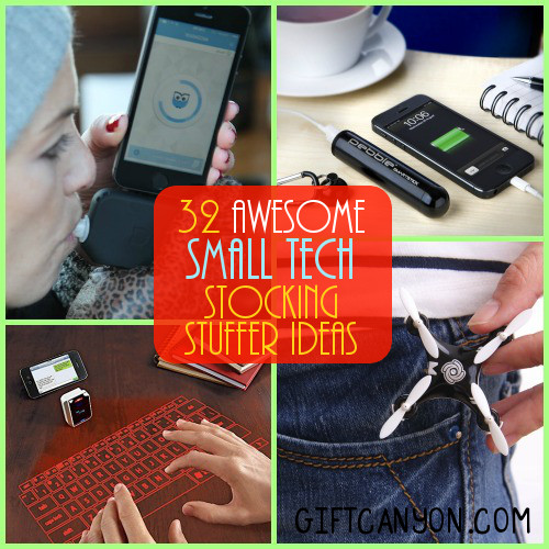 32 Small Tech Gadgets Stocking Stuffers For Kids And
