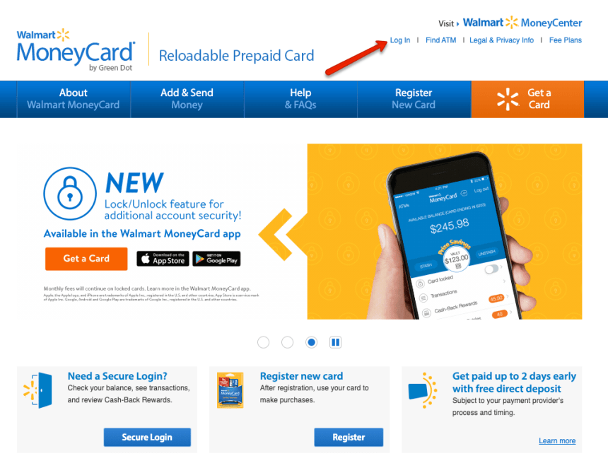 """Walmart moneycard website"""