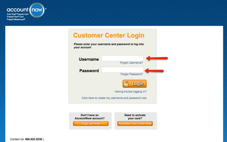 """""""AccountNow prepaid login 1"""""""