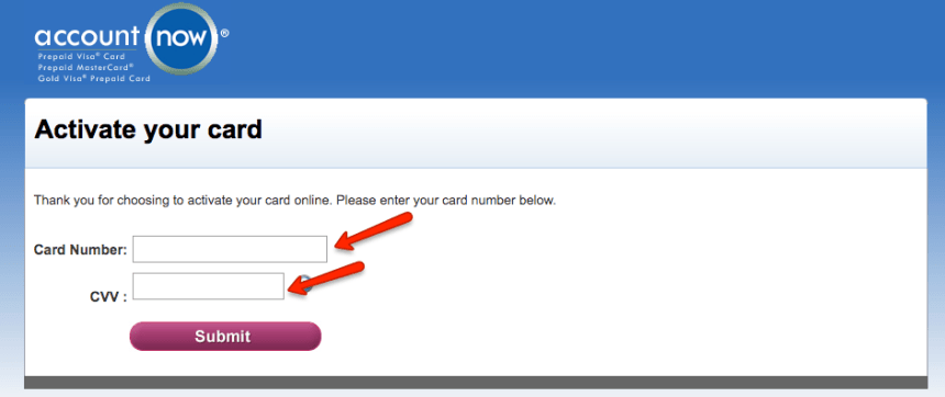 """How to Activate accountnow card online"""
